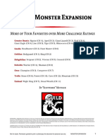 D&D 5e Monster Expansion