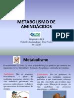 Metabolismo de Aminoacidos UFLA 2015