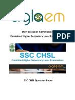 SSC CHSL 20 Dec 2015 Solved Question Paper - Evening Shift