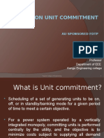 Lecture on Unit Commitment