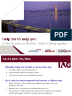 Working Together - Sales and Revenue Management