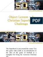 Object Lesson - A Christian Superbowl Challenge