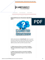 Expected Insurance Awareness Questions - Set 2 _ Exam Pundit - Achieve. Inspire