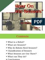 Robotic Sensors PPT