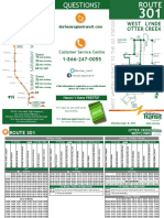 301 West Lynde _ Otter Creek Bus Schedule for Fall 2015 Semester at Durham College