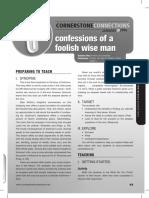 1st Quarter 2016 Lesson 5 Teachers Guide for Cornerstone Connection (Ages 15-18)