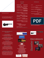 Flyer Kasseler Gitarrenkonzerte 2016