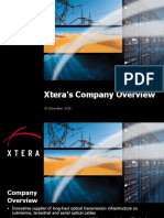 2015_11_20 - Short Xtera's Company Overview - With Sample Projects - iPad