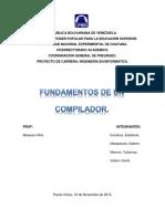 Trabajo I - Fundamentos de Un Compilador