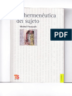 La Hermeneutica Del Sujeto