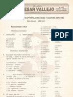 PRIMER EXAMEN DE APTITUD ACADÉMICA Y CULTURA GENERAL - Ciclo Anual - UNI 2004 Lima, 24 de marzo de 2003