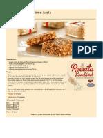 Receitas Saudaveis Biscoita Gergelim e Aveia