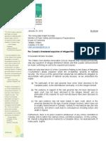 OCLA letter to Minister Goodale