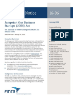 FINRA Portal Rules Regulatory Notice 16 06