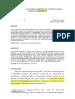Artigo publicado Ef - Importância Da Educação Ambiental Na Preservação Das Florestas