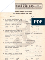 PRIMER EXAMEN DE MATEMÁTICA Ciclo Semestral Intensivo - UNI 2004 - I Lima, 19 de setiembre de 2003