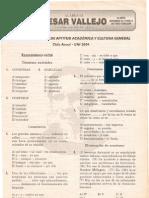 EXAMEN DE ENTRADA DE APTITUD ACADÉMICA Y CULTURA GENERAL - Ciclo Anual - UNI 2004 Lima, 10 de marzo de 2003