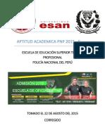 Ultimo Examen Aptitud Academica 2015 -II (Corregido)
