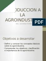 Introduccion a La Agroindustria