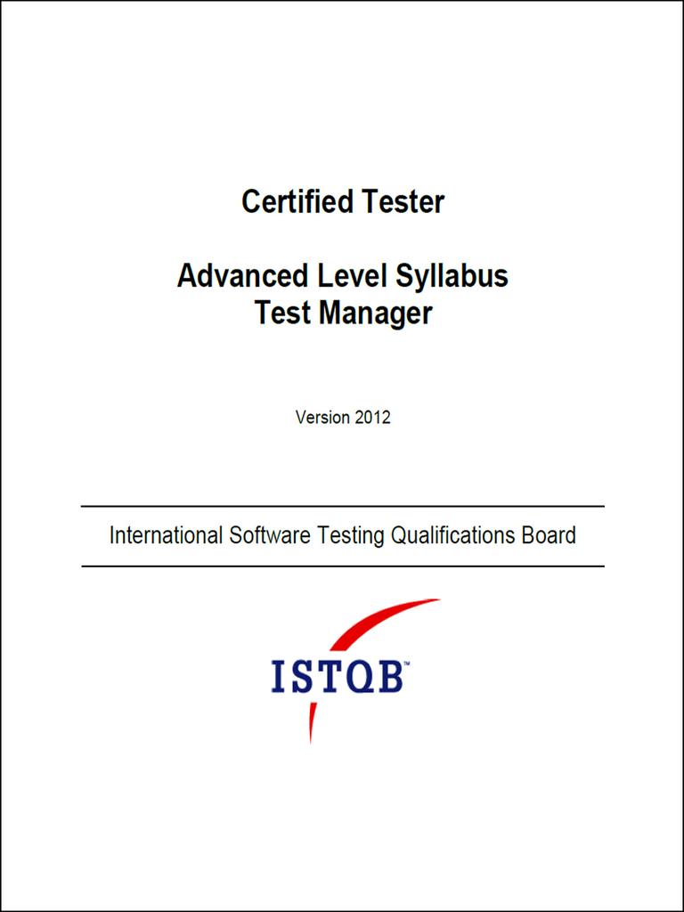 Istqb advanced level test manager syllabus v5 intelligence istqb advanced level test manager syllabus v5 intelligence analysis test assessment fandeluxe Gallery