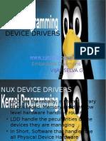 Device Drivers Basics Introduction