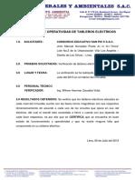 Certificacion de Tableros Electricos
