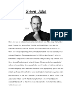 Steve Jobs Research Paper