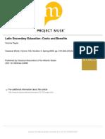 Latin Secondary Education