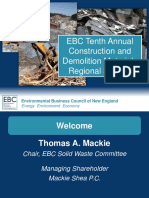 1-28-16 Tenth Annual Construction and Demolition Materials Management Regional Summit