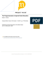 The Progymnasmata in Imperial Greek Education
