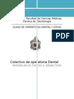 Guia de Laboratorio Operatoria Dental 2016