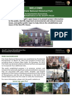 First State National Historical Park - Sheriff's House Action Plan