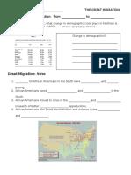 Great Migration Nearpod Notes 2016