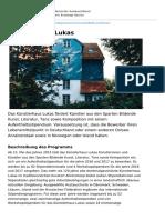 Deutschland Stipendium Musik Kunst de Kuenstlerhaus Lukas