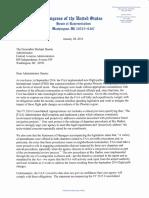 Letter to FAA Administrator Michael Huerta