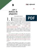 La Jornada- Elogio y Defensa de Plagiarios