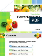 Fresh Vegetables - Food PPT Template