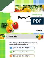 Fresh Vegetables - Food PPT Template