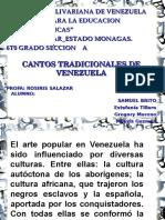 Cantos tradicionales de Venezuela .ppt