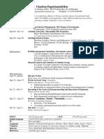 CV of Chariton Papatriantafyllou