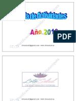 Agenda de Las Actividades de Enero 2016