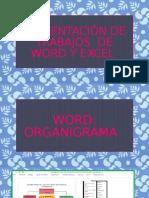 Presentación de Trabajos de Word y Excel