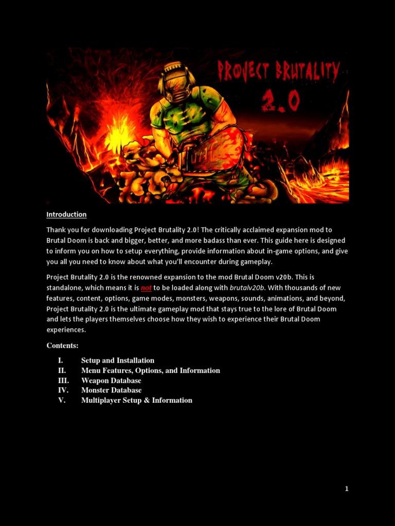 Project Brutality 2 0 User Manual | Shotgun | Gun