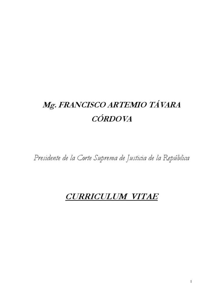 Cv Francisco Tavara 220708