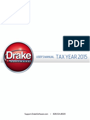 Drake Software User's Manual 2015 | Identity Document | Patient