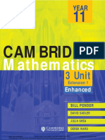 Cambridge 3 unit Mathematics