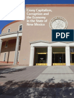 Crony Capitalism, Corruption and the Economy in the State of New Mexico