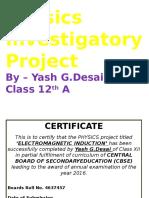 Physics Investigatory Project on EMI