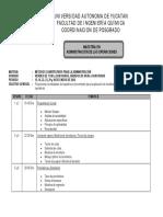 Temario Métodos cuantitativos MAO
