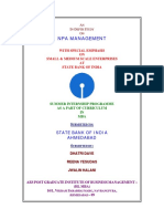 Npa Management Sbi